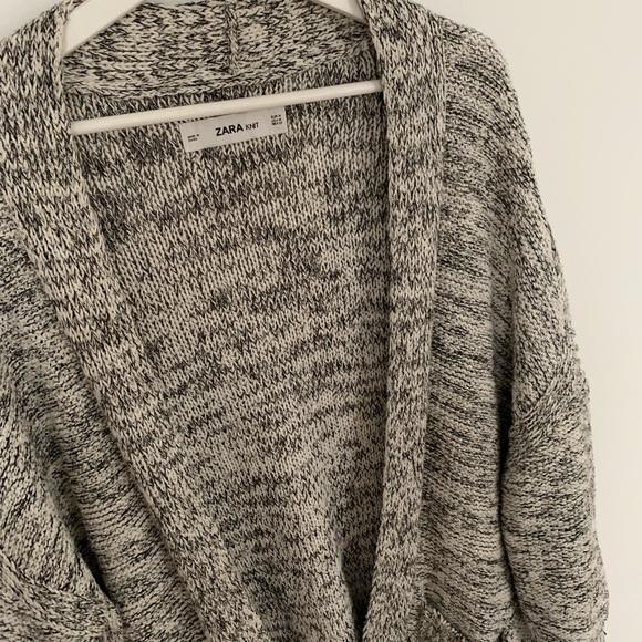 941292e5671 Zara knit marled cardigan with side slits &pockets
